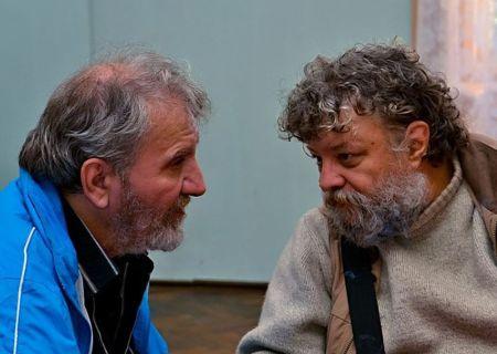 Paul Vinicius şi bunul său prieten Dan Iancu, în toamna trecută la Sighet