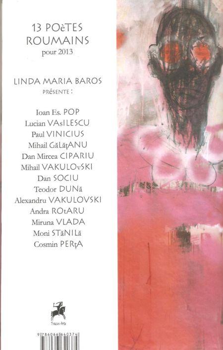 Coperta 4, cu lista celor 13 poeţi traduşi