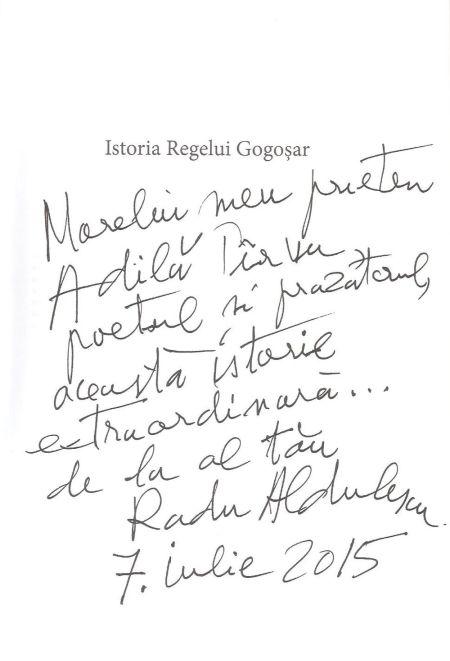 Un autograf care mă onorează şi mă obligă, în egală măsură!